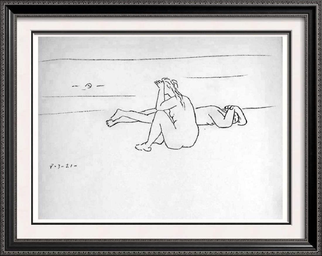 Pablo Picasso 'After'  On the Beach I (Two Nudes) c.