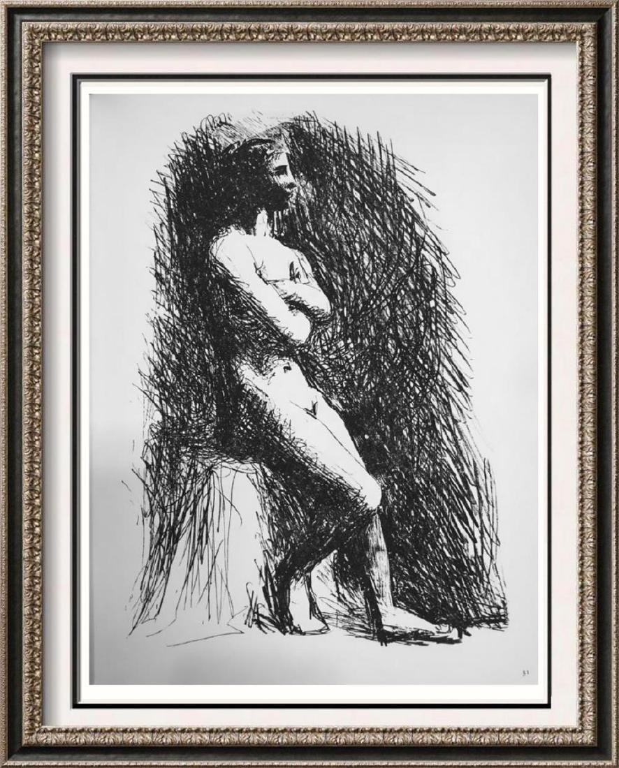 Pablo Picasso 'After'  Female Nude with Parallel Lines