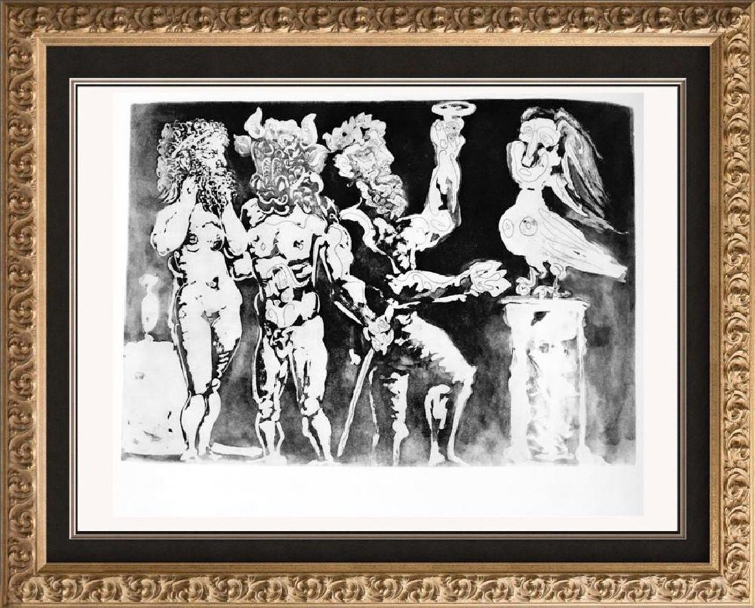Pablo Picasso 'After'  Two Men with Minotaur and