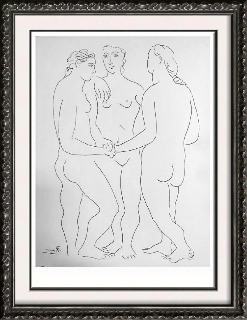 Pablo Picasso 'After'  The Three Friends c. 1927 Fine