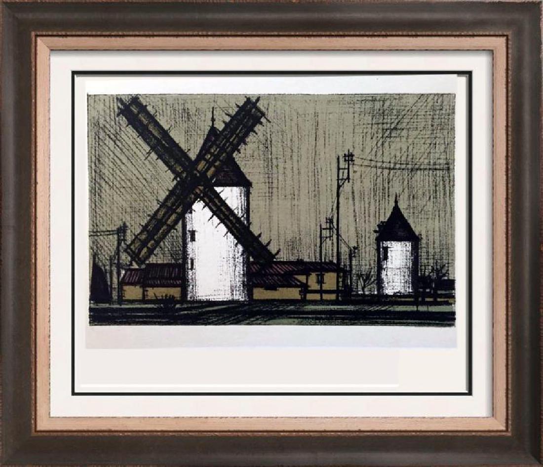 Bernard Buffet Windmills Full Color Print, Executed in