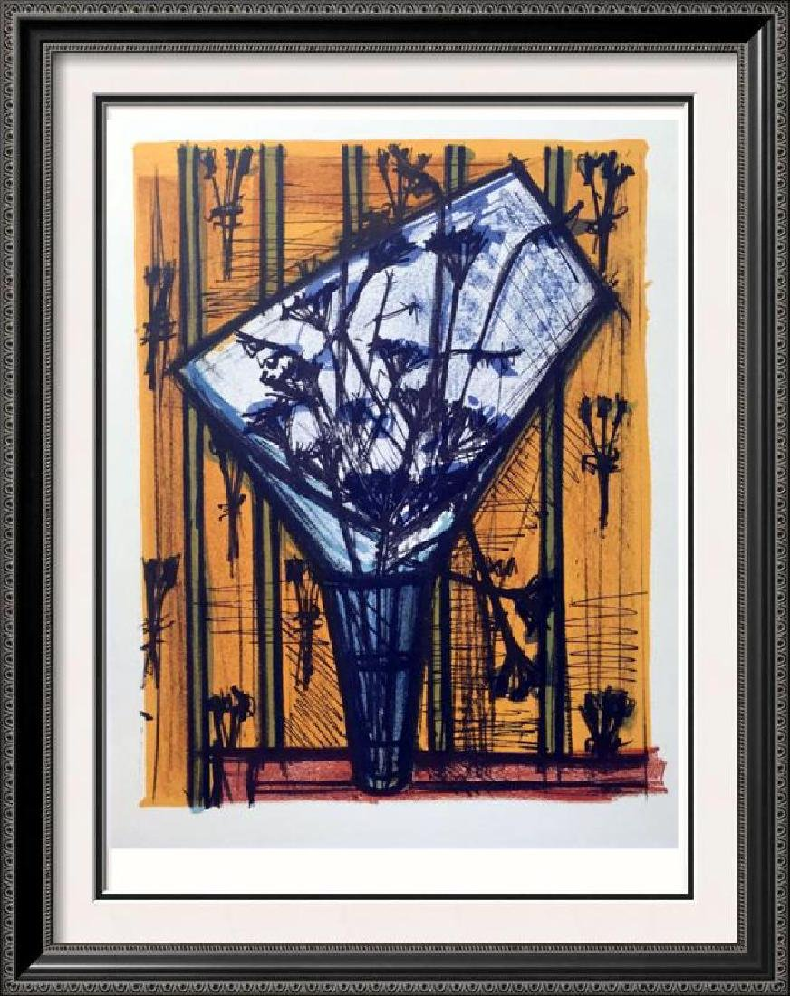 Bernard Buffet Flowers Full Color Print, Executed in