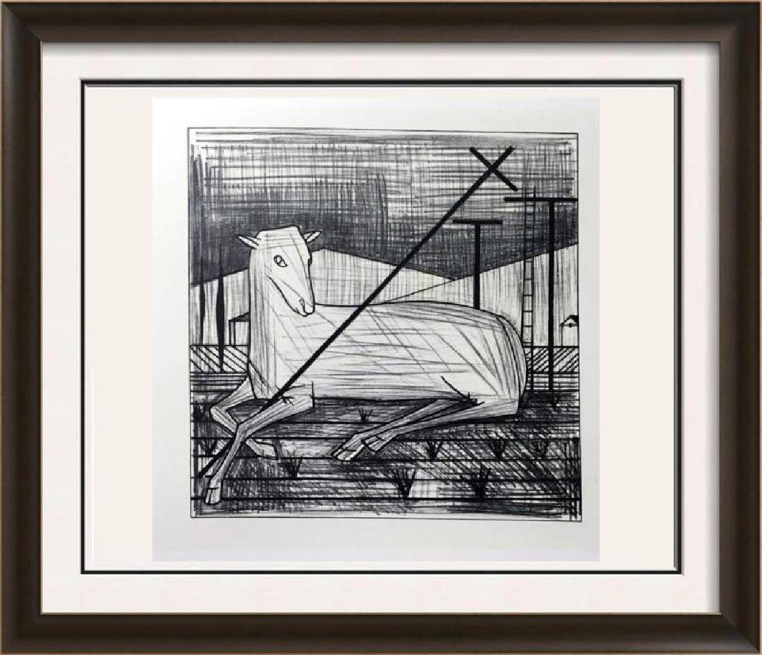 Bernard Buffet Tae Pashal Lamb Full Color Print,