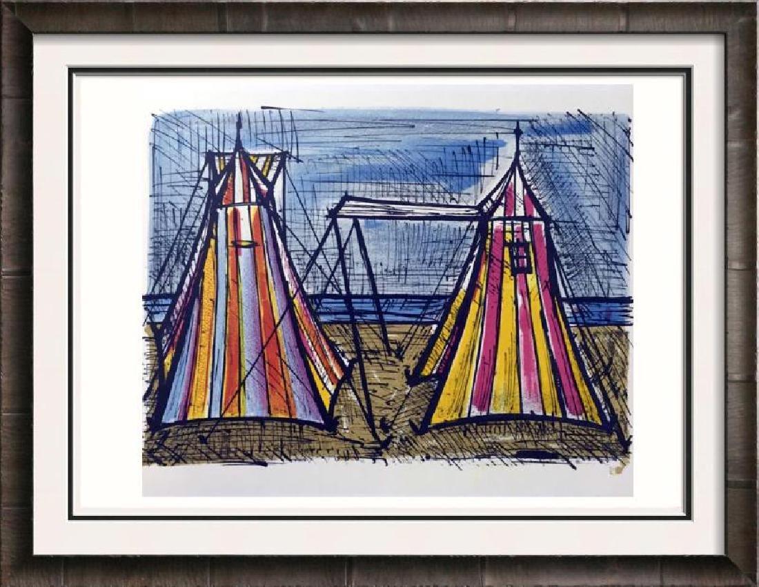 Bernard Buffet Tents Full Color Print, Executed in
