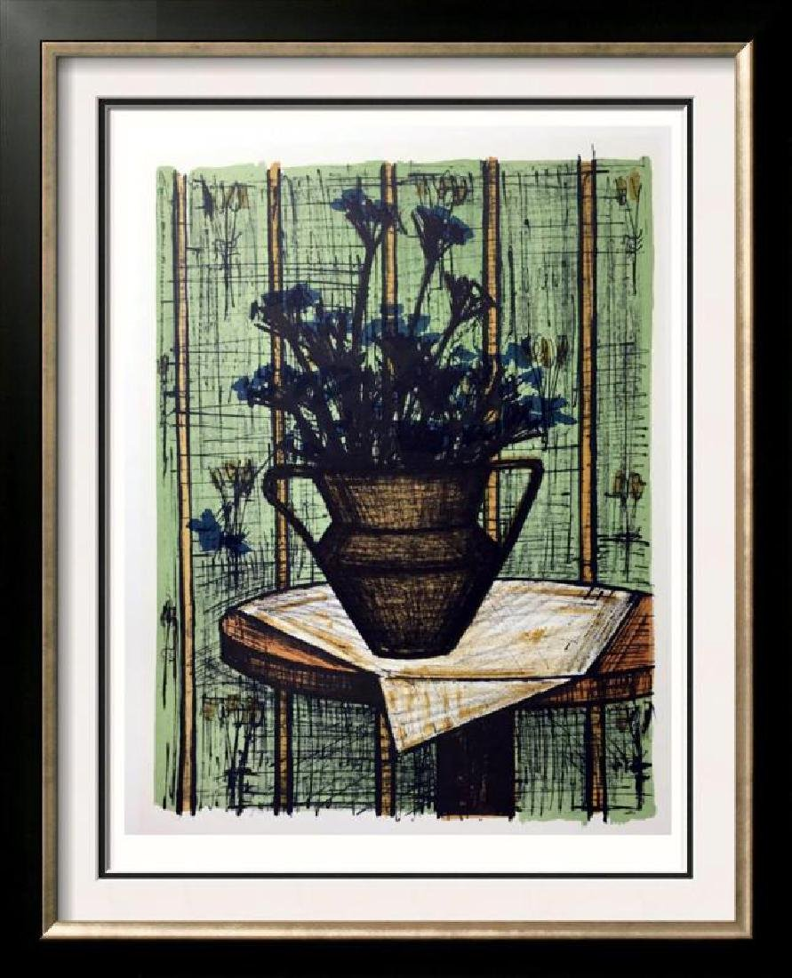 Bernard Buffet Vase of Flowers Full Color Print,