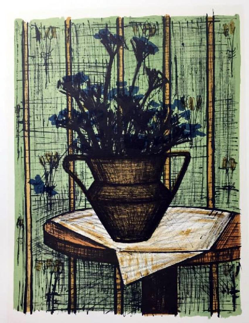 Bernard Buffet Vase of Flowers Full Color Print, - 2