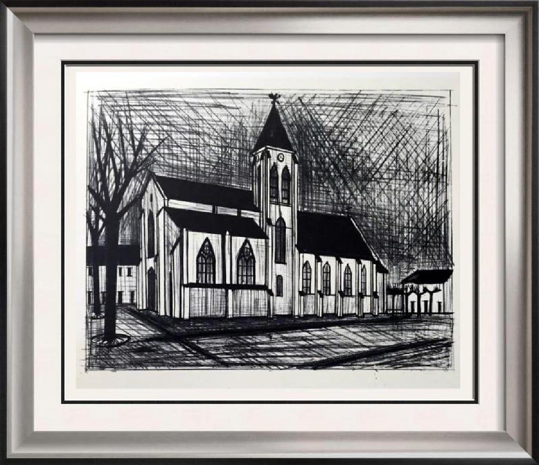Bernard Buffet The Church Full Color Print, Executed in