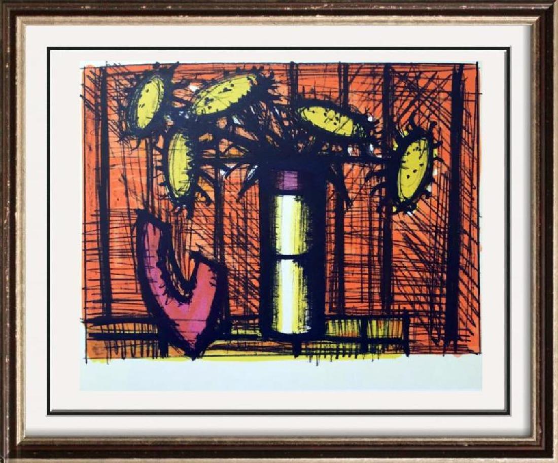Bernard Buffet Sunflowers and Melons Full Color Print,