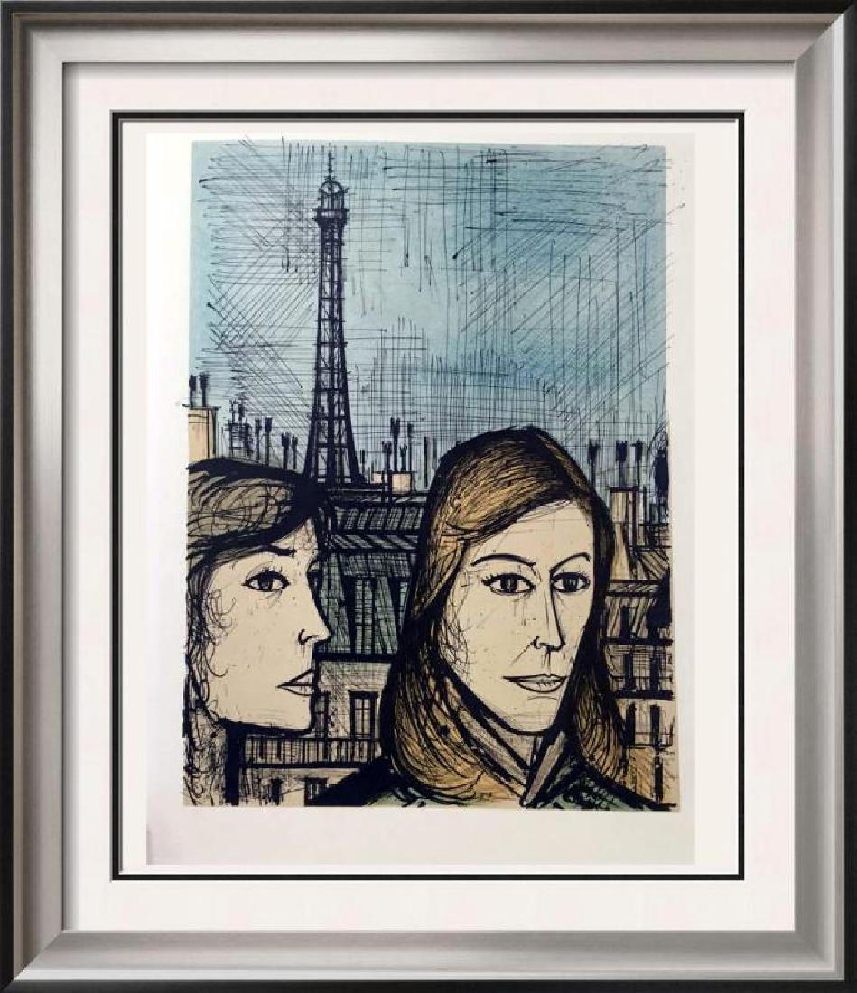 Bernard Buffet Parisians Full Color Print, Executed in