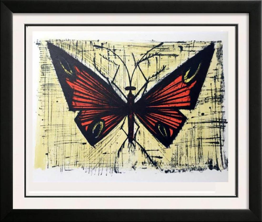 Bernard Buffet Red and Yellow Butterfly Full Color