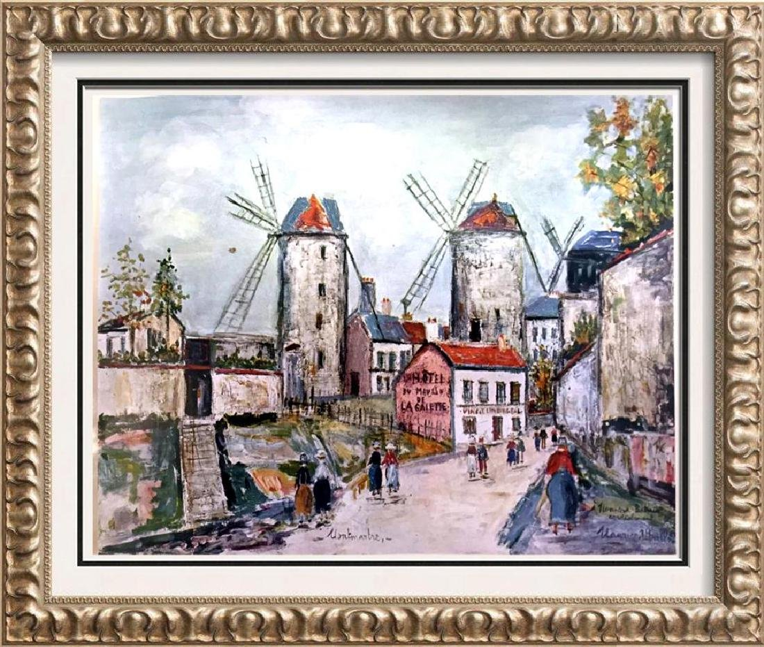 Maurice Utrillo Windmills of Montmartre c.1949 Fine Art