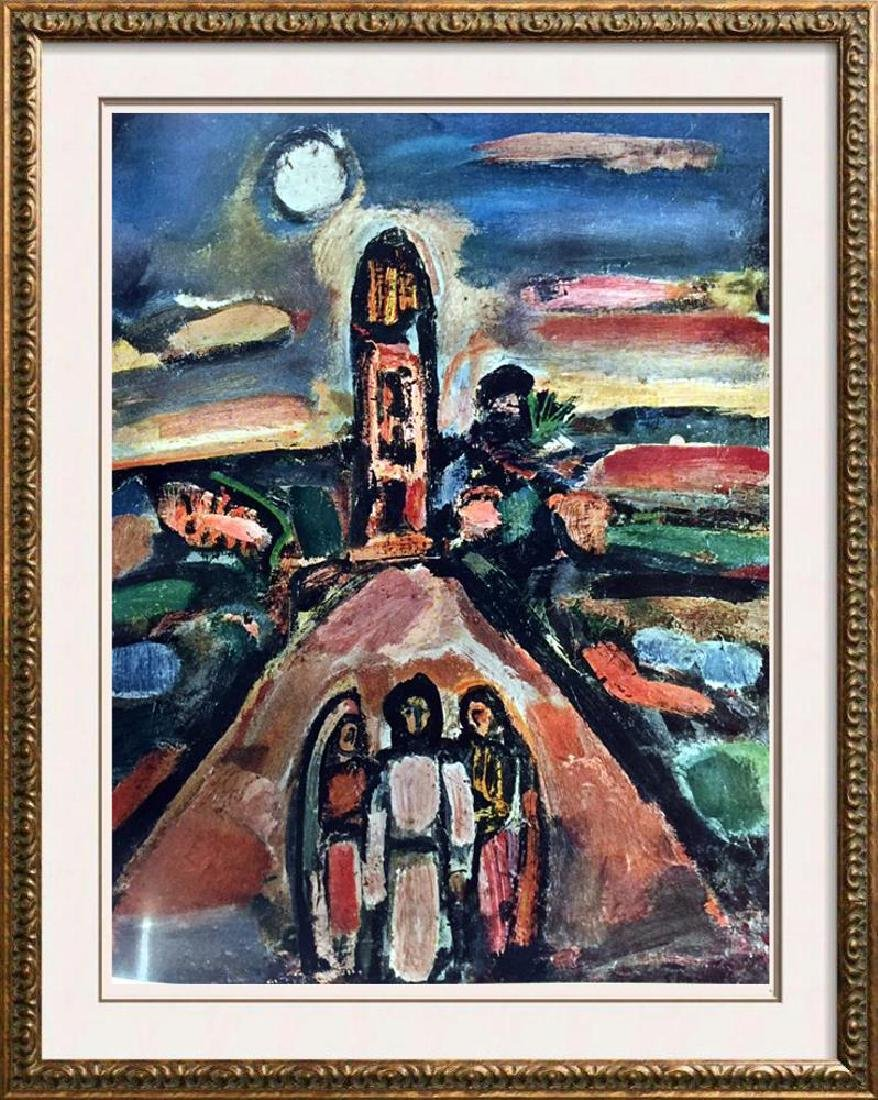 Georges Roualt Christ and Two Disciples c.1935 Fine Art