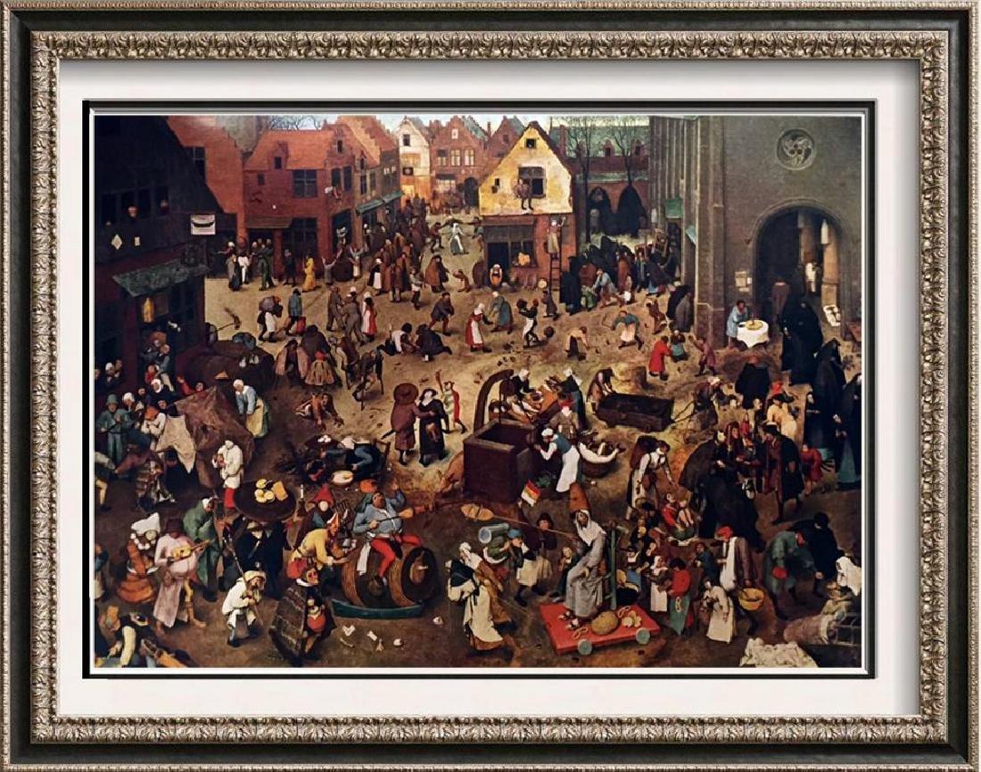Pieter Bruegel The Battle Between Carnival and Lent