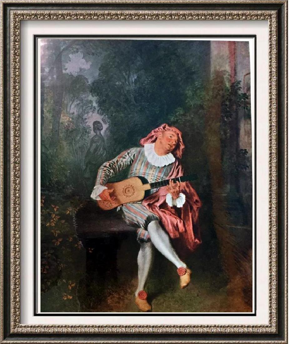Masterpieces Watteau: Mezzetin c.1718 Fine Art Print