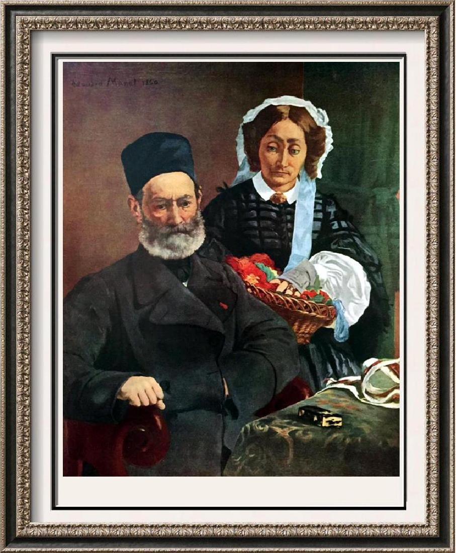 Manet Peintures Portrait de M. Et Mme Manet c.1860