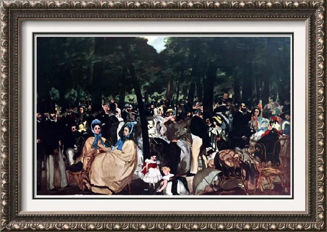 Manet Peintures La Musique Aux Tuileres c.1860 Fine Art