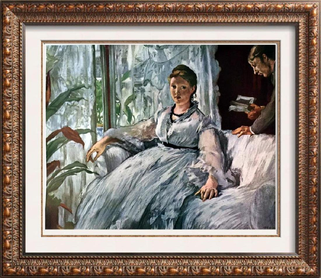 Manet Peintures La Lecture c.1868 Fine Art Print Signed