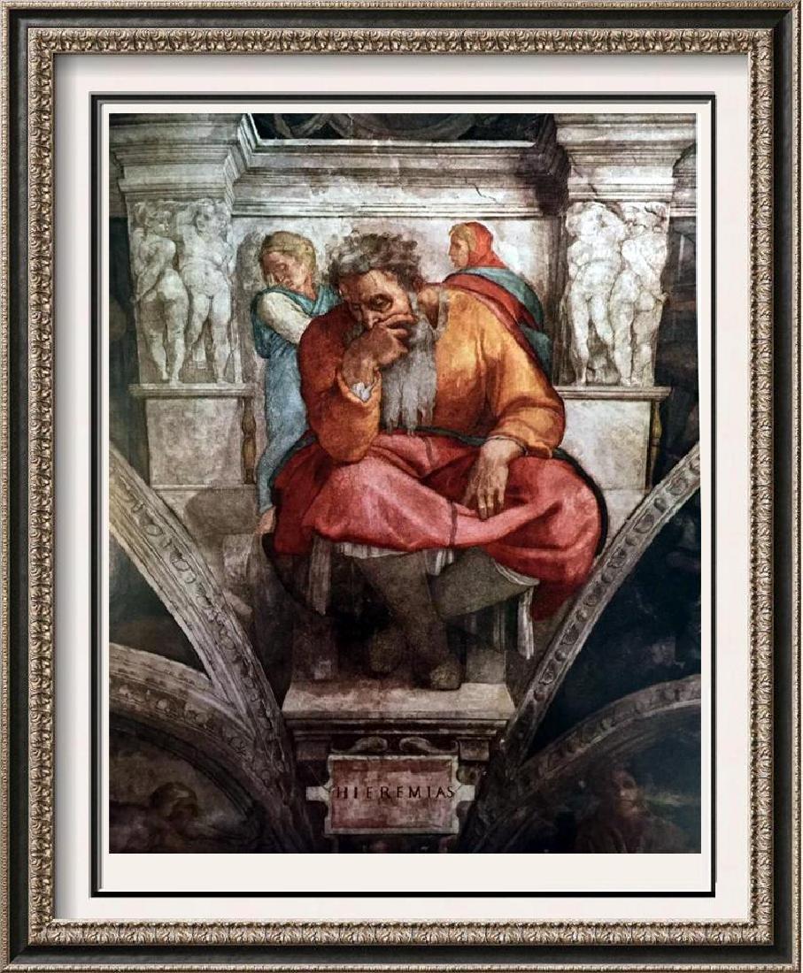 Michelanglo The Prophet Jeremiah c.1510 Fine Art Print