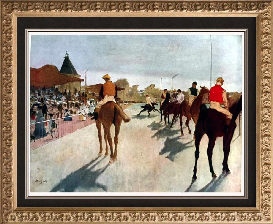 Edgar-Hilaire-Germain Degas At The Race Course