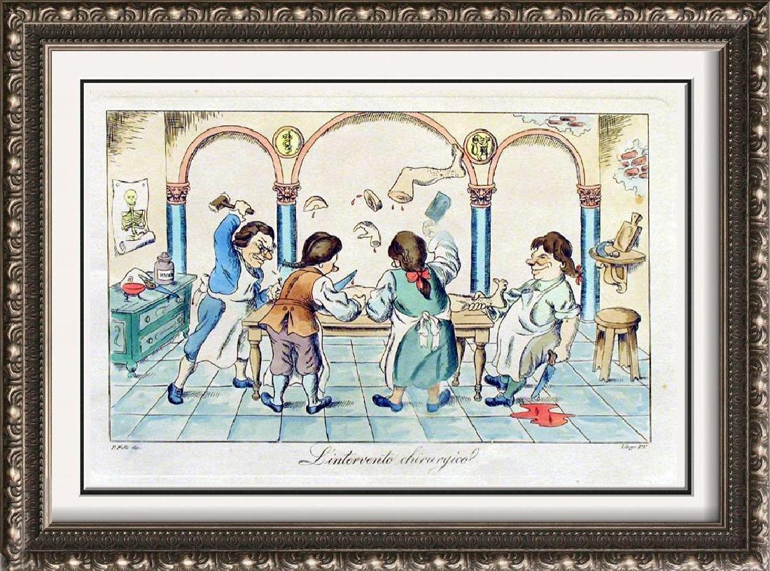 Fantastic Colored Etching Rare Original Artwork Sale