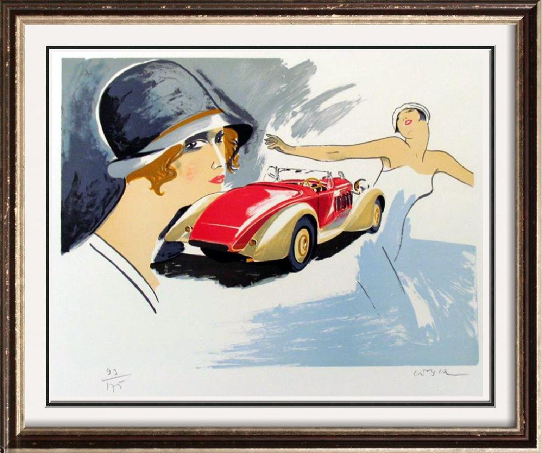 DELAGE LITHOGRAPH COLORFUL HAND SIGNED SALE