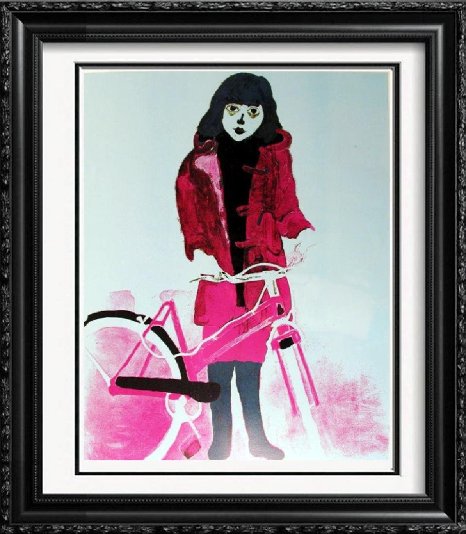Whimsical Limited Edition Large Signed Serigraph Girl