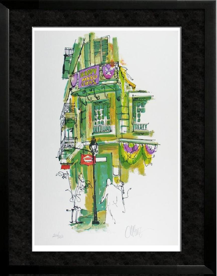 New Orleans Mardi Gras Signed Colorful Bourbon Street