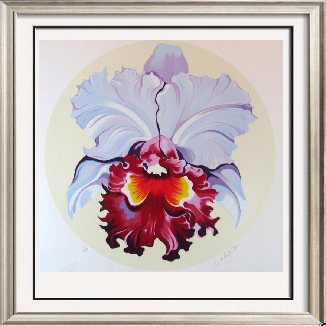 Lowell Nesbitt Orchid Ltd Ed Hand Signed Colorful Art