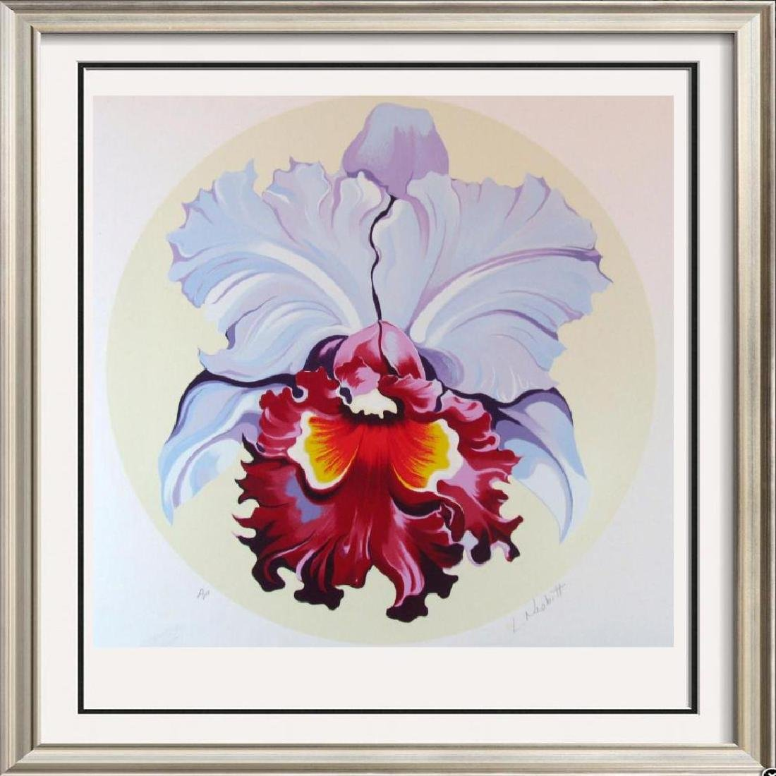 Lowell Nesbitt Orchid Ltd Ed Hand Signed Colorful Art