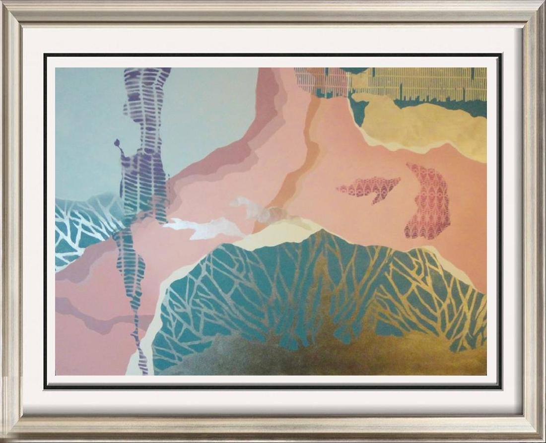 Huge Abstract Southwestern Style Hand Signed Serigraph