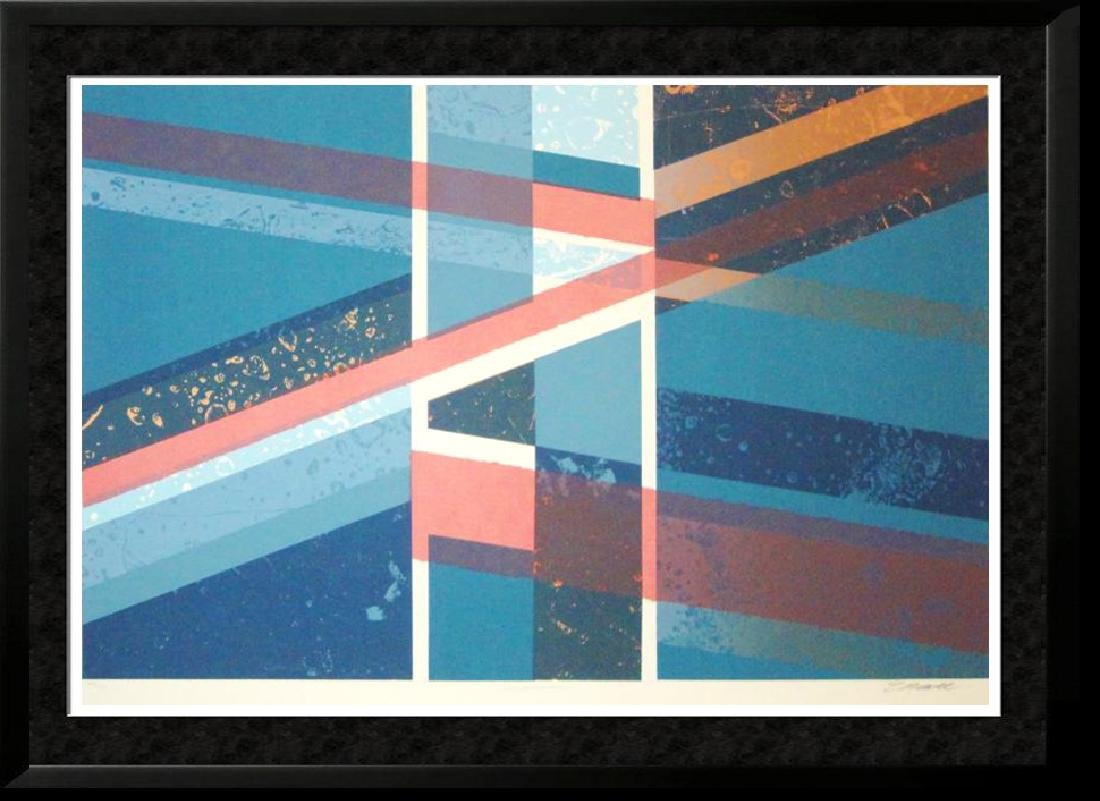 Modern Geometric Abstract Bold Colors Signed Ltd Ed
