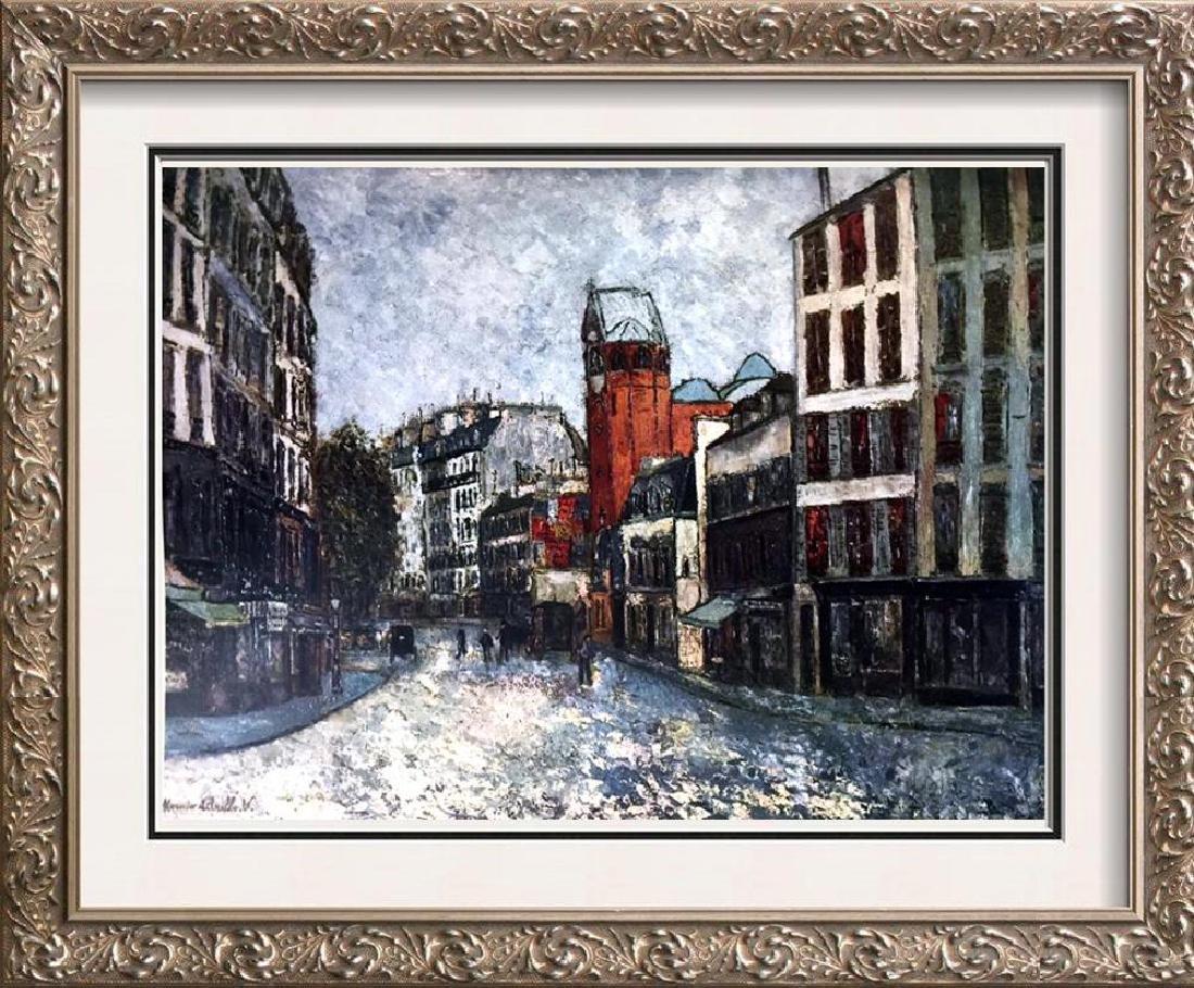 Maurice Utrillo Rue Des Abbesses c.1910 Fine Art Print