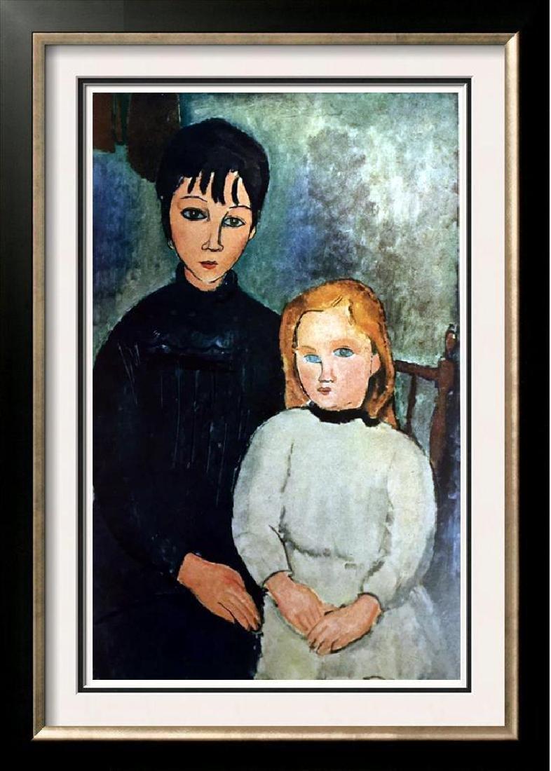 Amedeo Modigliani Peintures Les Deux Jeunes Filles