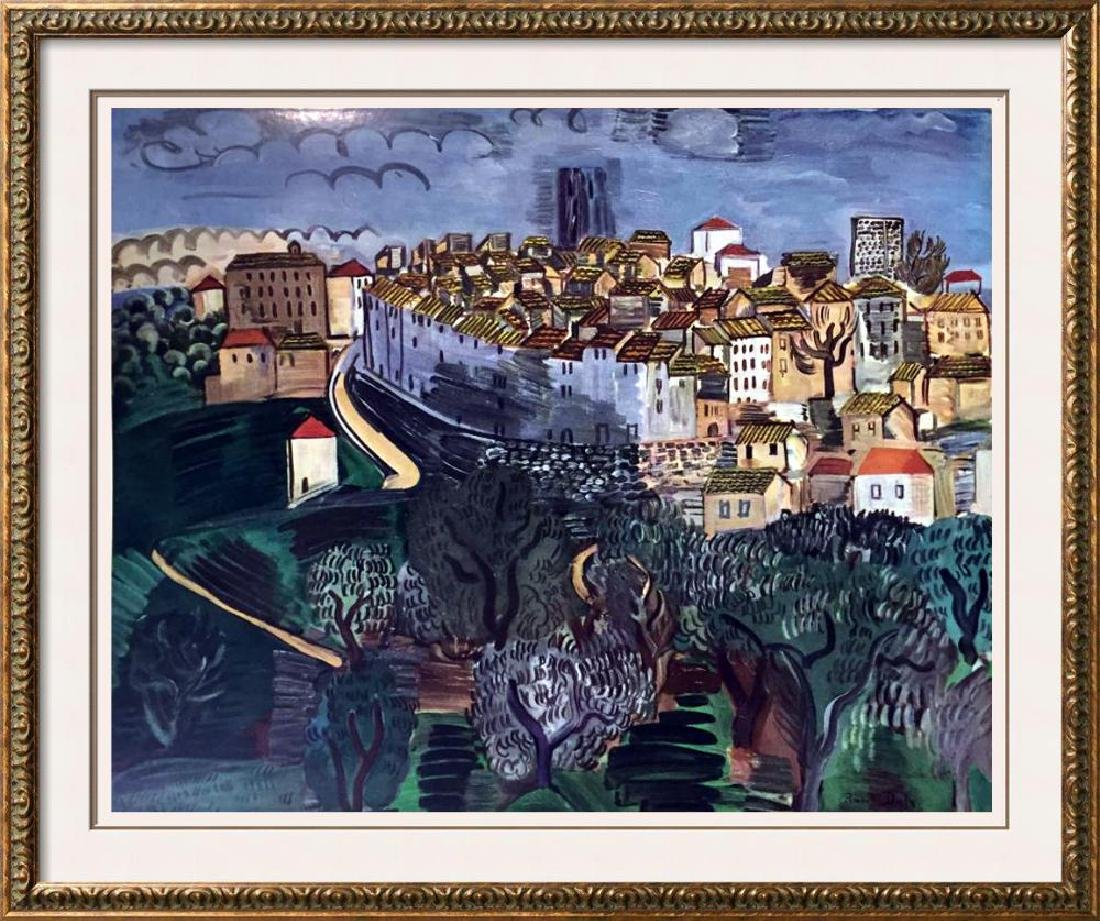 Raoul Dufy Vence c.1923 Fine Art Print Signed in Plate