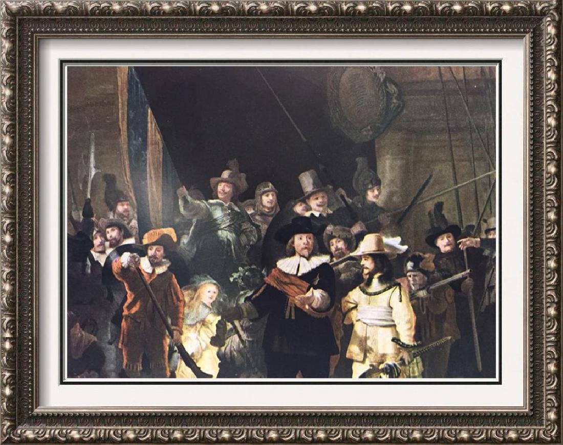 Rembrandt The Night Watch c.1642 Fine Art Print Signed