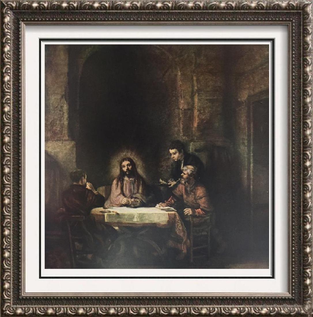Rembrandt Christ at Emmaus c.1648 Fine Art Print Signed