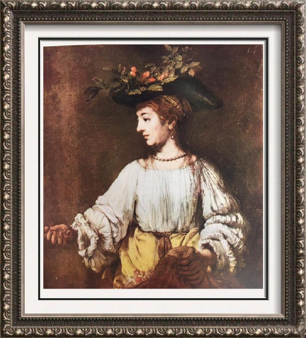 Rembrandt Flora c,1650 Fine Art Print Signed in Plate