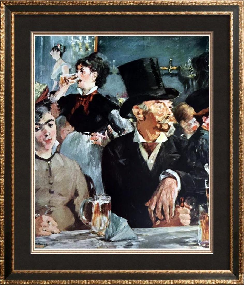 Edouard Manet At the Café c.1878 Fine Art Print Signed