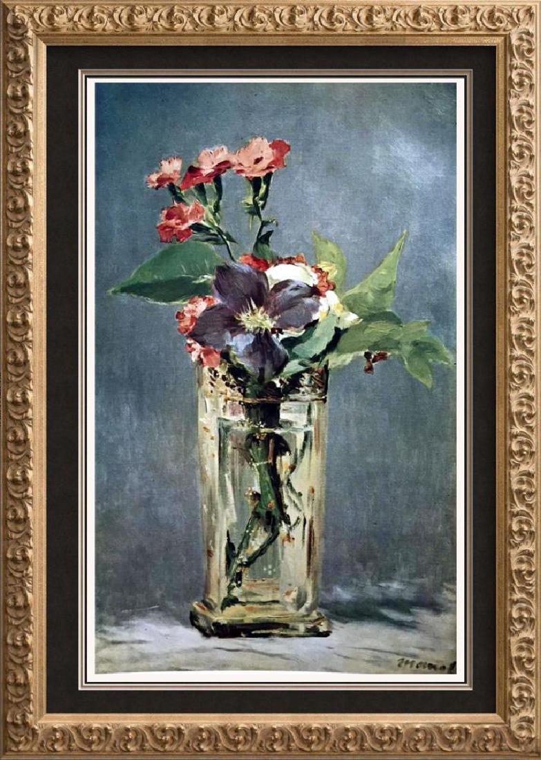 Manet Peintures Clematites Dans Un Vase de Cristal