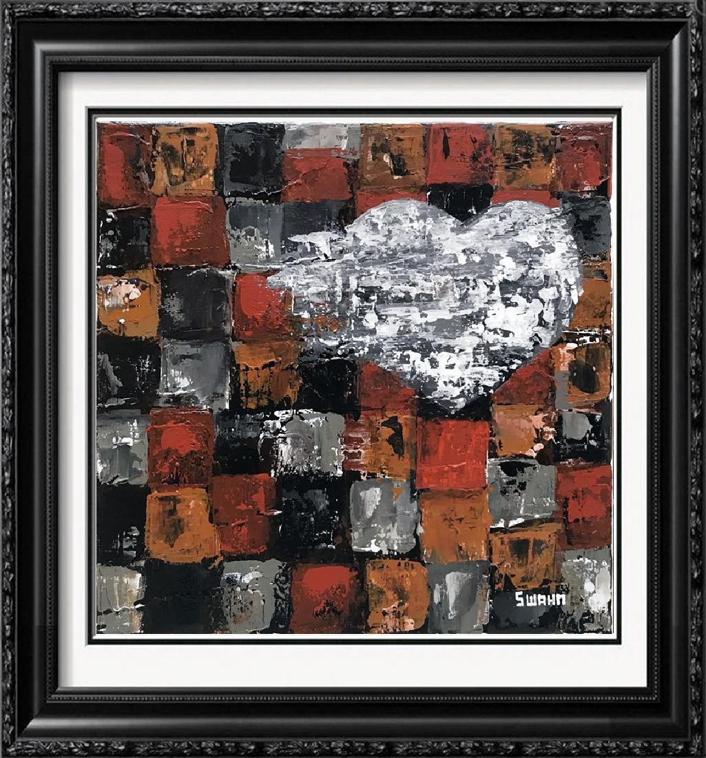 Study in Squares Abstract Heart Original Pop Painting