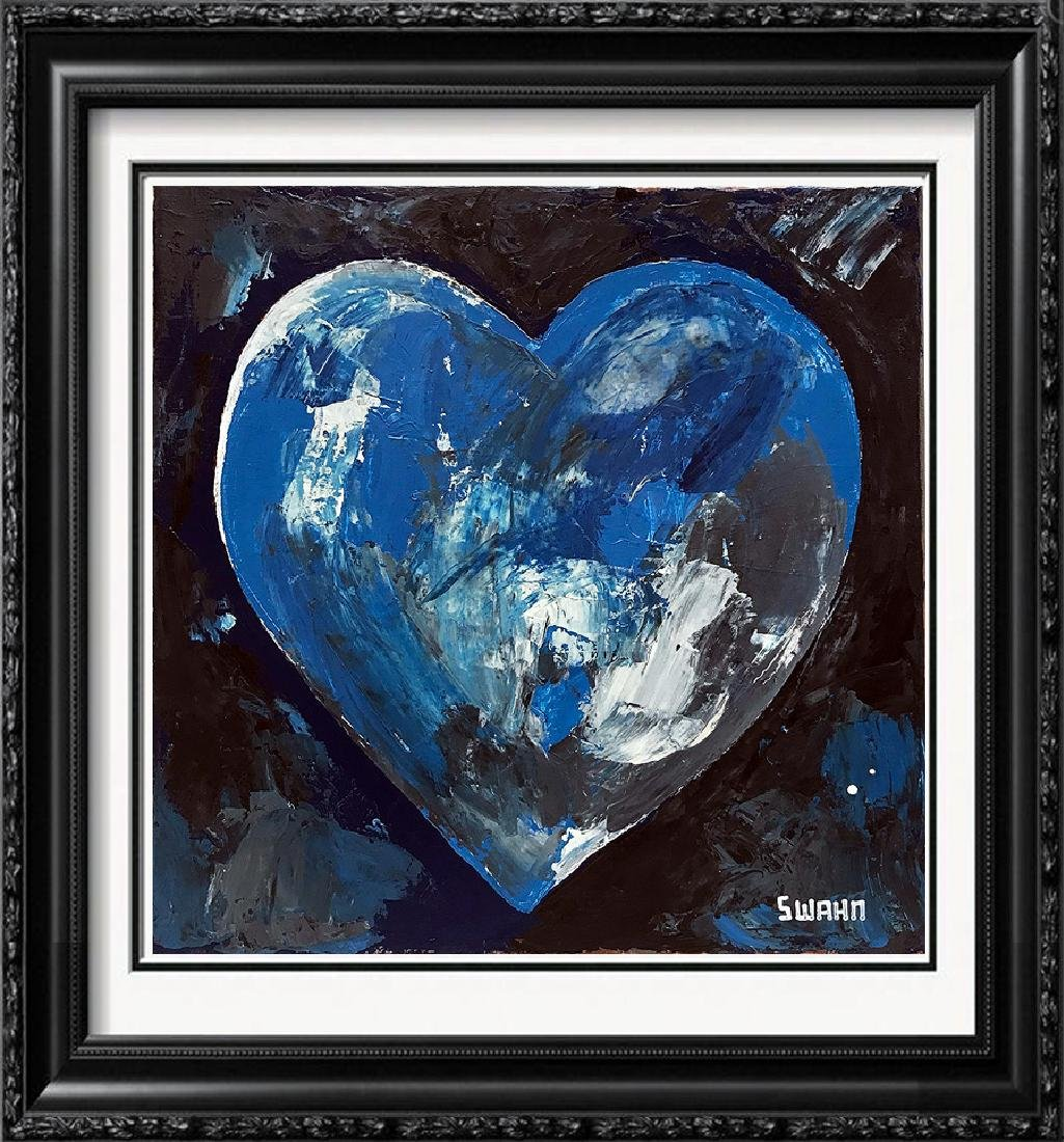 Heart Earth Painting on Canvas Hand Signed