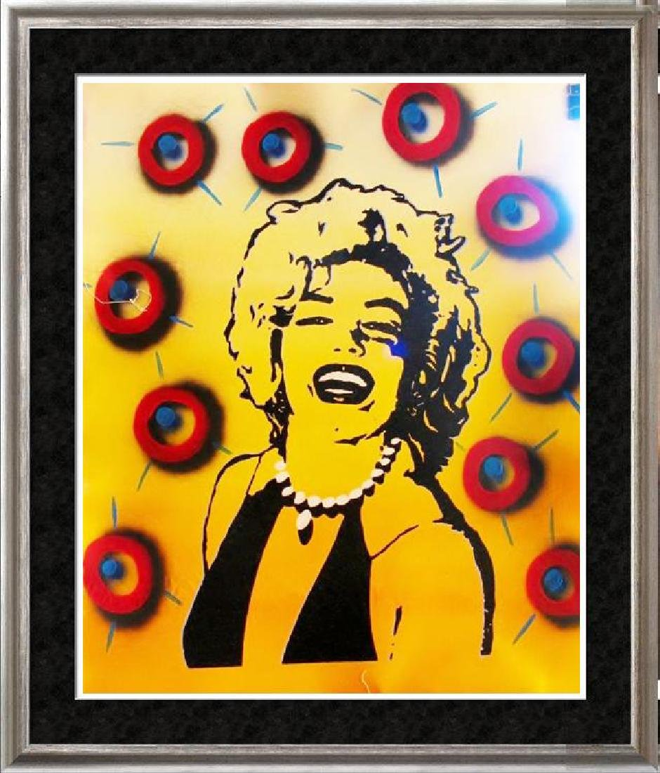 MARILYN MONROE CANVAS POP WARHOL STYLE PAINTING