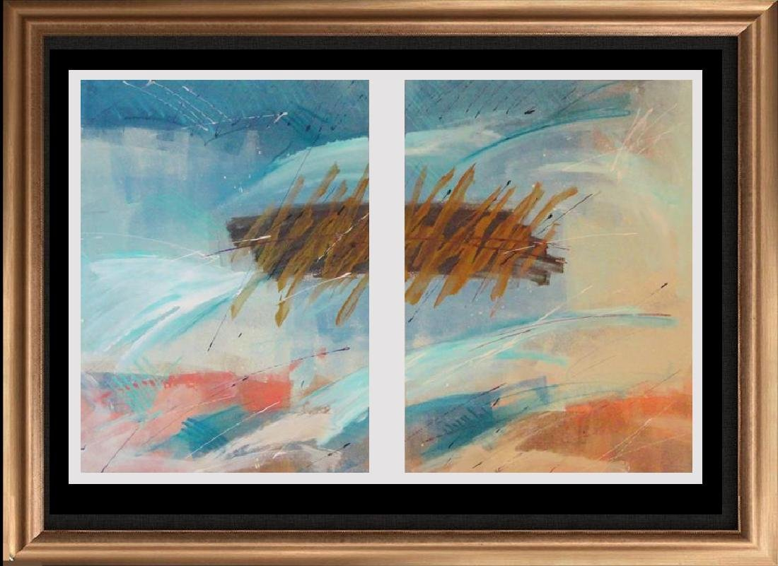Double Abstract Huge Limited Edition Modern Colorful