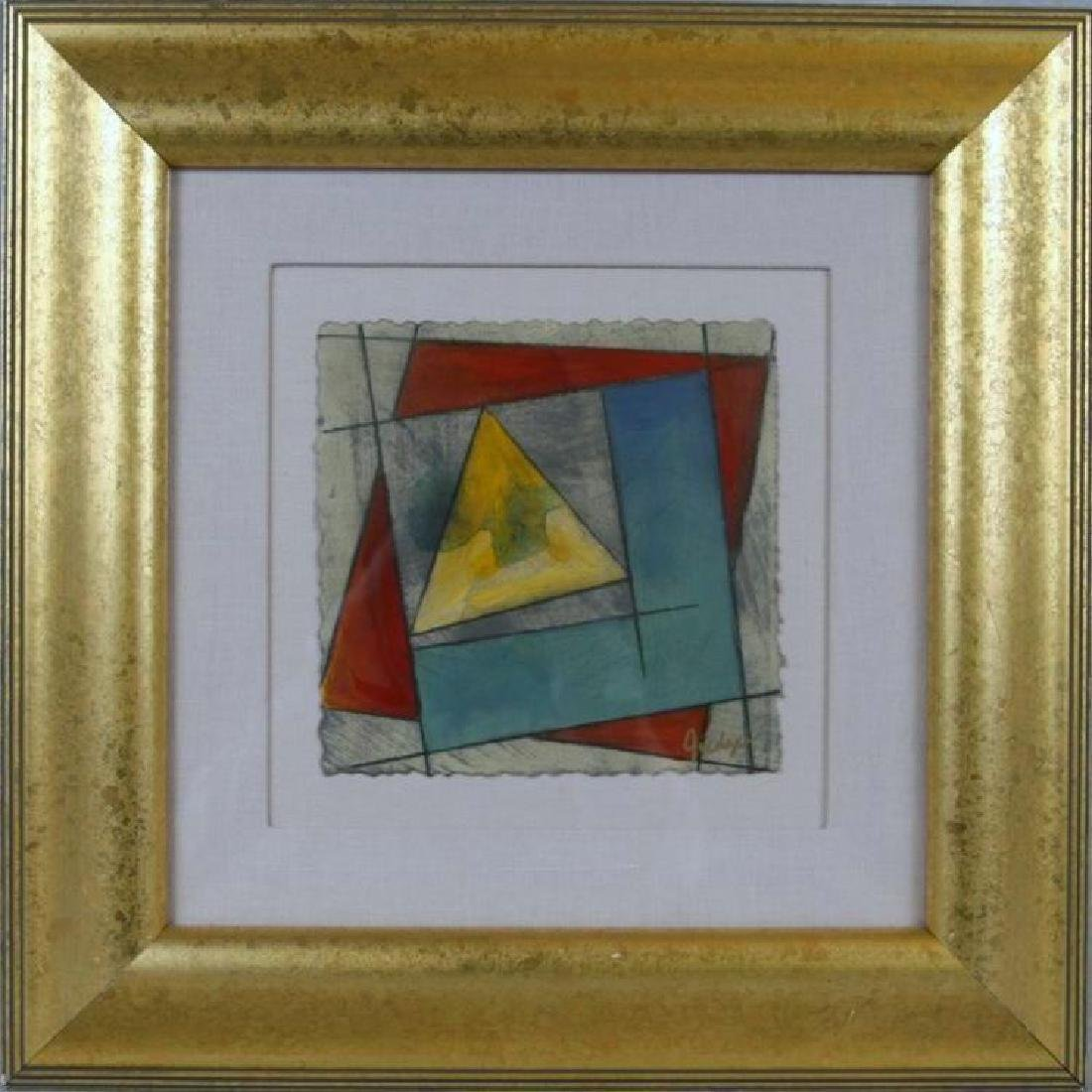 Colorful Abstract Framed Original Painting Sale