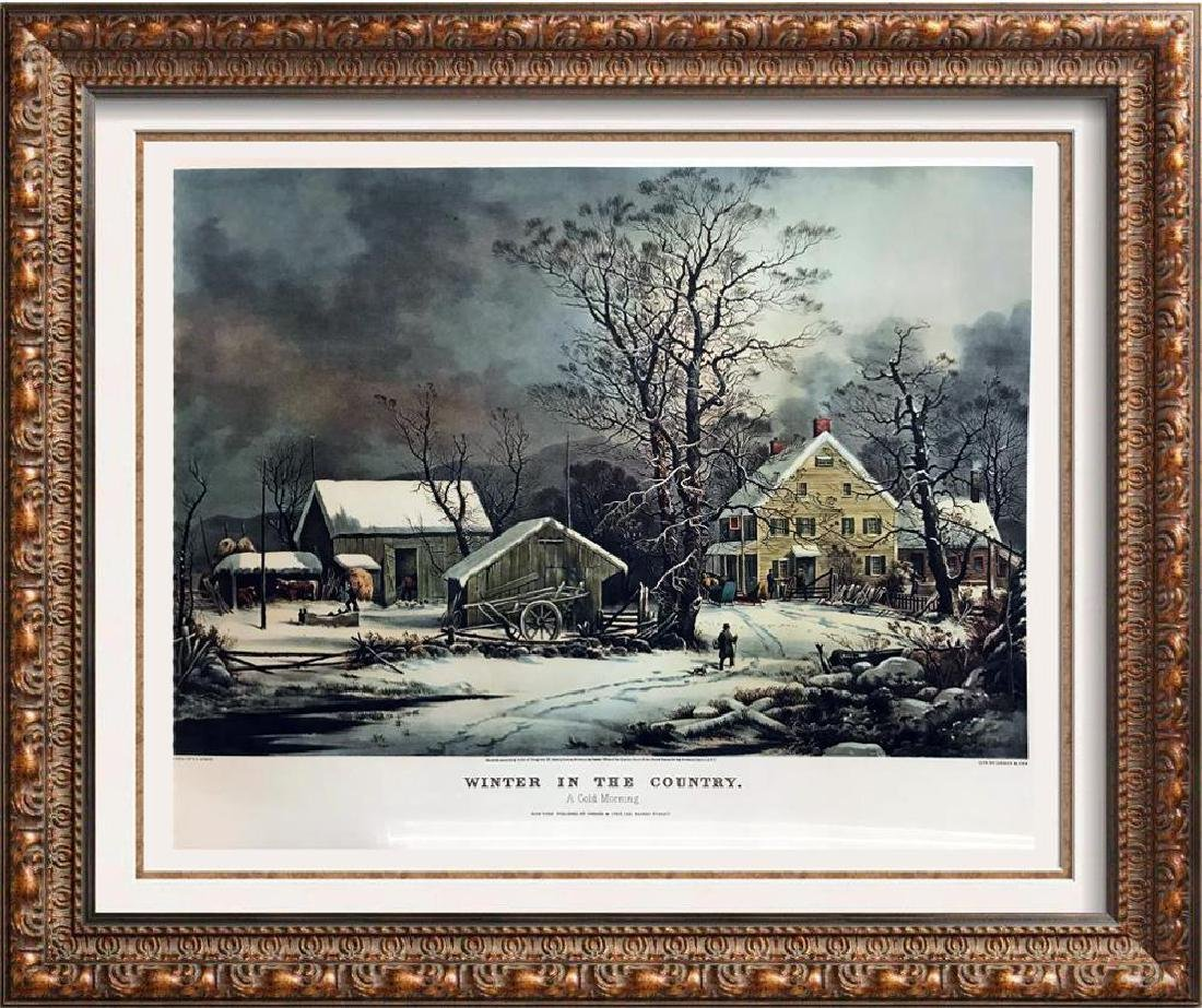 Roy King c.1987 Winter In The Country A Cold Morning A