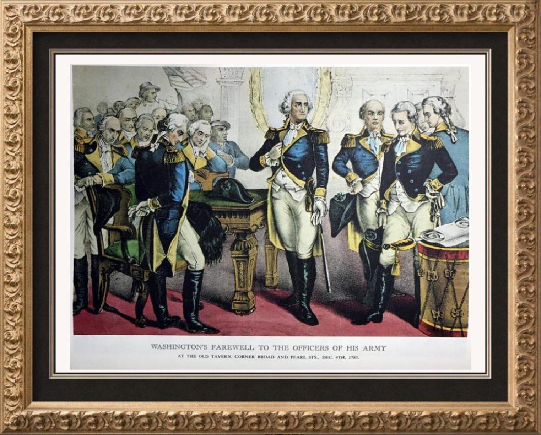 Washington's Farewell To The Officers Of His Army Color