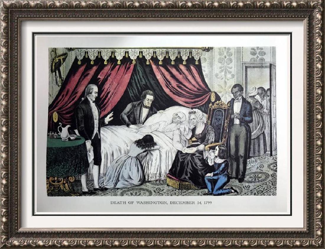 Death Of Washington Color Lithographic Fine Art Print