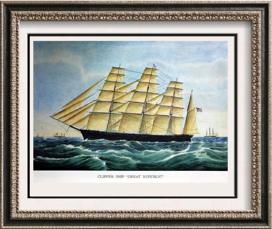 Clipper Ship Great Republic Color Lithographic Fine Art