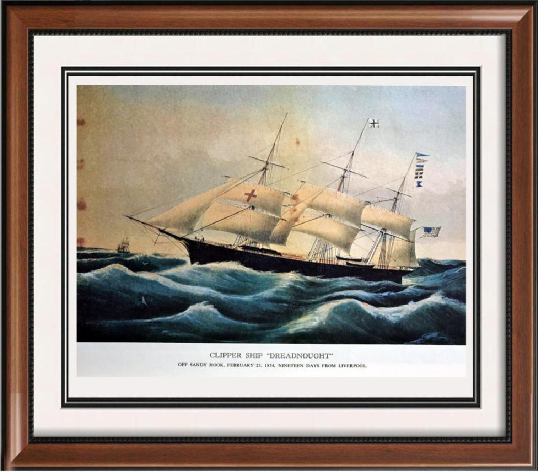 Clipper Ship Dreadnought Color Lithographic Fine Art