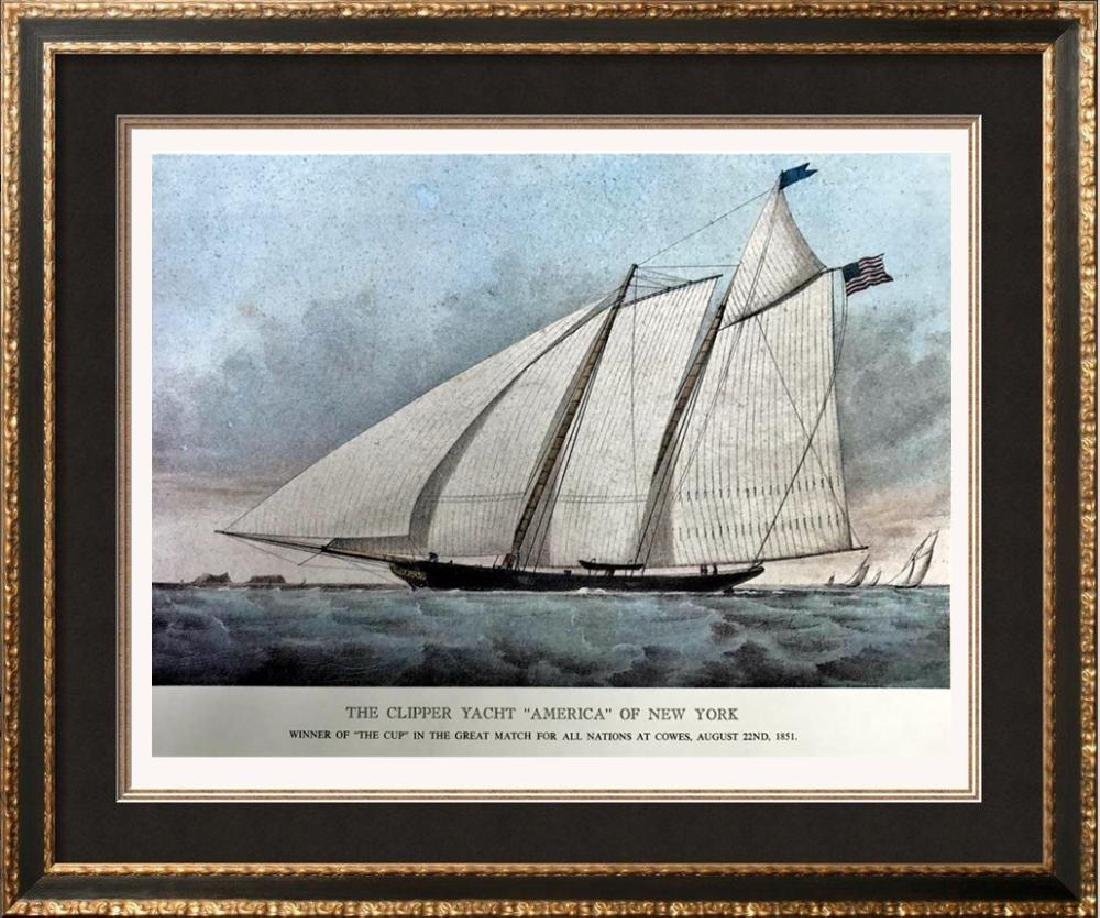 The Clipper Yacht America Of New York Color